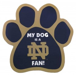 My Dog is a Notre Dame Fan! Paw Magnet