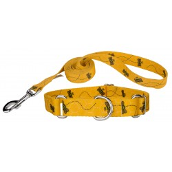 Busy Bee Martingale Dog Collar & Leash