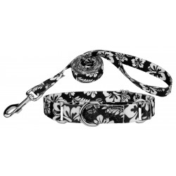 Black Hawaiian Martingale Dog Collar & Leash