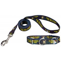 Course Be With You Martingale Dog Collar & Leash