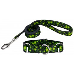 Clovers In The Wind Martingale Dog Collar & Leash