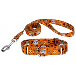Frightening Furbabies Martingale Dog Collar & Leash