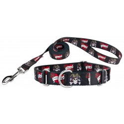 I Love Mom Martingale Dog Collar & Leash