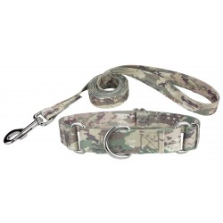Mountain Viper Camo Martingale Dog Collar & Leash