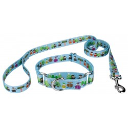 Snowman Party Martingale Dog Collar & Leash