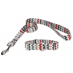 Sundry Chevrons Featherweight Martingale Dog Collar & Leash - Extra Small