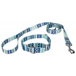 Snowy Pines Martingale Dog Collar & Leash