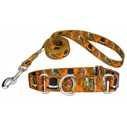 Thanksgiving Tradition Martingale Dog Collar & Leash