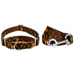 Whitetail Buck Martingale Featherweight Dog Collar & Leash - Extra Small