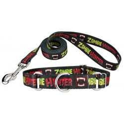 Zombie Hunter Martingale Dog Collar and Leash