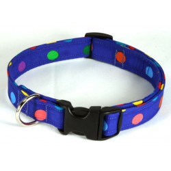 Deluxe Multiple Color Polka Dots Designer Dog Collar