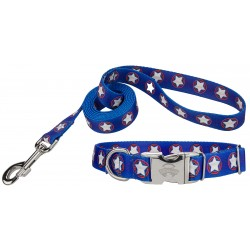 American Stars Premium Dog Collar & Leash