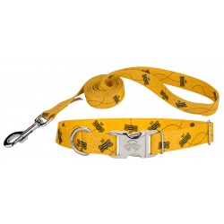 Busy Bee Premium Dog Collar & Leash