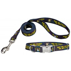 Course Be With You Premium Dog Collar & Leash