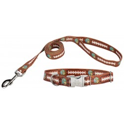 Football with Jack Premium Dog Collar & Leash Limited Edition