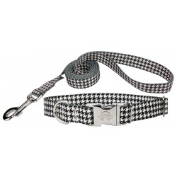 Houndstooth Premium Dog Collar & Leash