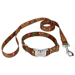 Premium Merry Christmas Dog Collar & Leash