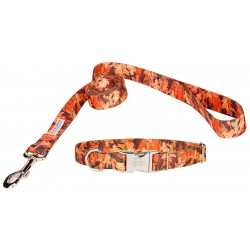 Orange Sunset Camo Premium Collar & Leash