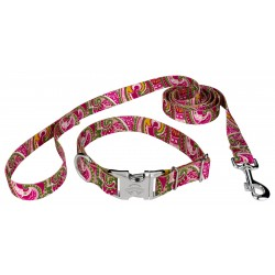 Pink Paisley Premium Collar & Leash