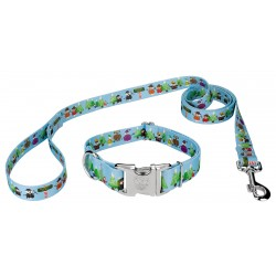 Snowman Party Premium Dog Collar & Leash