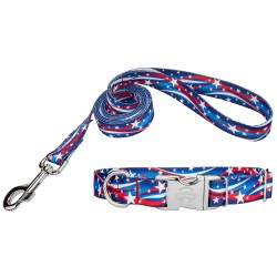 Star Spangled Premium Dog Collar & Leash