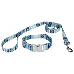 Snowy Pines Premium Dog Collar & Leash