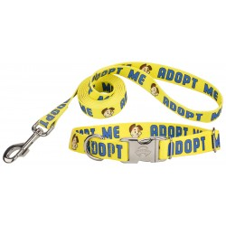 Yellow Adopt Me Premium Dog Collar & Leash - Closeout