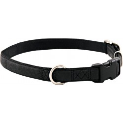 Black Faux Leather Dog Collar Closeout