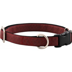 Red Faux Leather Dog Collar Closeout