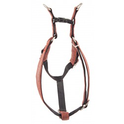 Red Faux Leather Step-In Harness Closeout