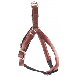 Red Faux Leather Step-In Harness Closeout - Medium