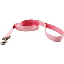 Pink Faux Leather Leash - Closeout - 6X1