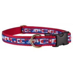 Premier American Pride Jacquard Ribbon Dog Collar Closeout