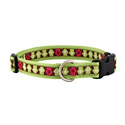 Chic Hydrants Jacquard Ribbon Dog Collar Closeout