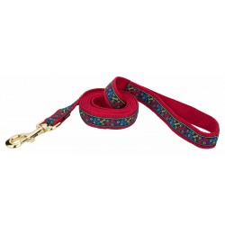 Fido's Treats Jacquard Ribbon Dog Leash - Closeout - 6X1