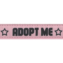 Pink Adopt Me Ribbon Double Sided Dog Leash