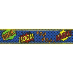 Blue Super Dog Ribbon Double Sided Leash