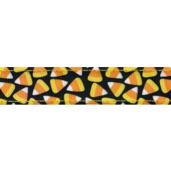 Candy Corn Ribbon Double Sided Dog Leash