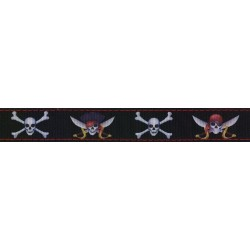 Jolly Roger Ribbon Double Sided Dog Leash