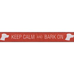 Keep Calm and Bark On Ribbon Dog Leash Limited Edition