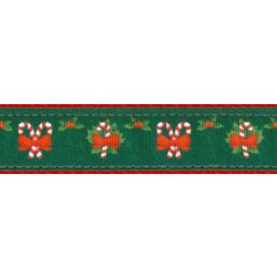Christmas Memories Ribbon Double Sided Dog Leash