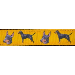 Manchester Terrier Ribbon Double Sided Dog Leash