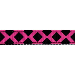 Pink and Black Lattice Ribbon Dog Leash Limited Edition