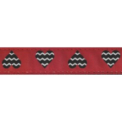 Queen of Hearts Ribbon Double Sided Dog Leash