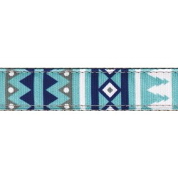 Snowy Pines Ribbon Double Sided Leash