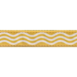 Gold Wave Ribbon Dog Leash Limited Edition