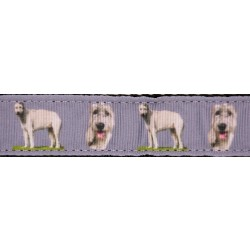 Wolf Hound Ribbon Double Sided Dog Leash