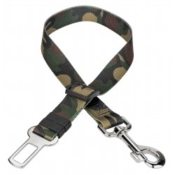 Woodland Camo Car Safety Dog Belt