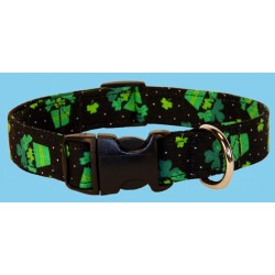 Deluxe St. Paddy's Potted Luck Designer Dog Collar