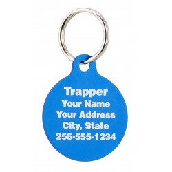 Pet ID Tag Circle w/ Tab Design